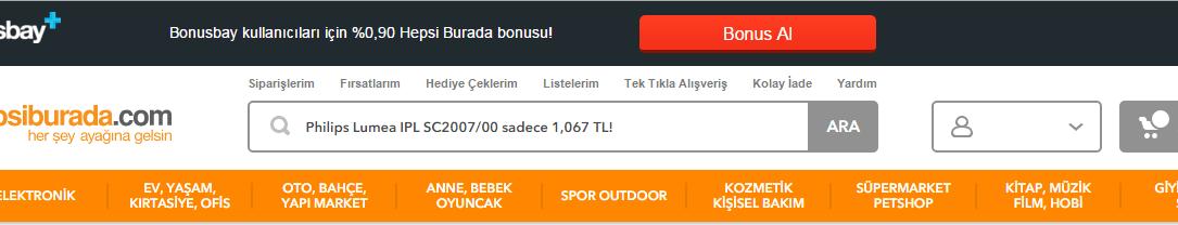 hepsiburada bonusbay